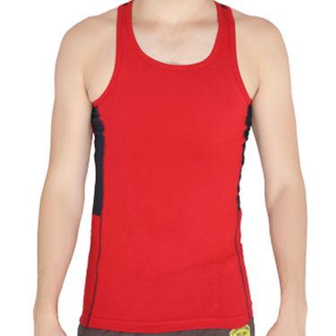 Chromozome Regular Fit Vest For Men_10589 - Red & Navy