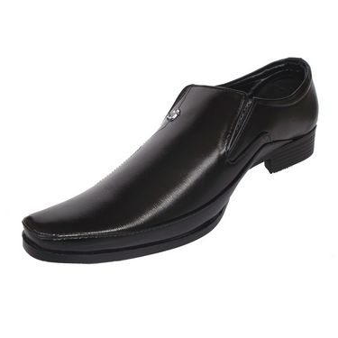Branded Micro Leather Formal Shoes 111P -Black