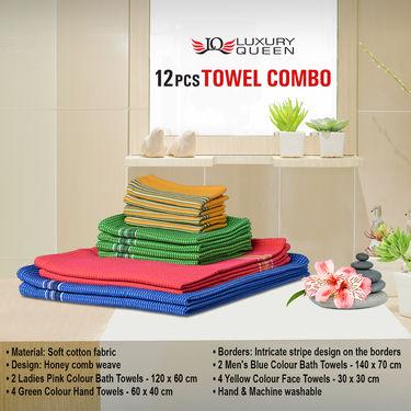 12 Pcs Towel Combo