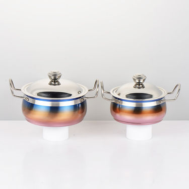 12 Pcs Tri Color Serving Set