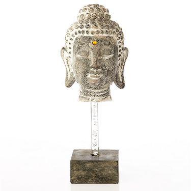 Budha Head on Square pedestal-1203-07009
