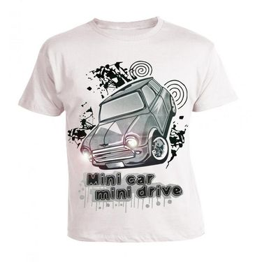 LitFab - Tshirts with Lights - Car - White