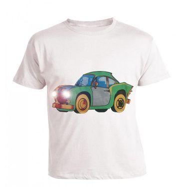 LitFab - Tshirts with Lights - Ambassador Car - White