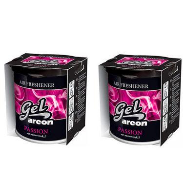 Pack of 2 Areon Passion Fragrance Gel Air Freshner