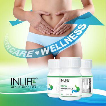 INLIFE Pre & Probiotics Supplement 60 Capsules
