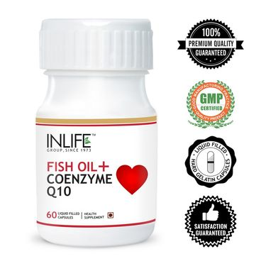 INLIFE Fish Oil With Coenzyme Q10 - 60 Capsules