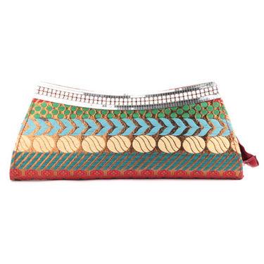 Combo of Wrist Watch + Ladies Hand Bag + Banarsi Clutch + Women Sunglass + Stole
