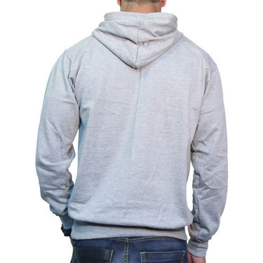 Effit Printed Regular Fit Full Sleeves Cotton Hoddies for Men - Grey_PTLHODY0077