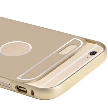 Callmate Aluminum Metal Bumper Case with Removable Back cover for iPhone 6 Plus 5.5 inch - Golden