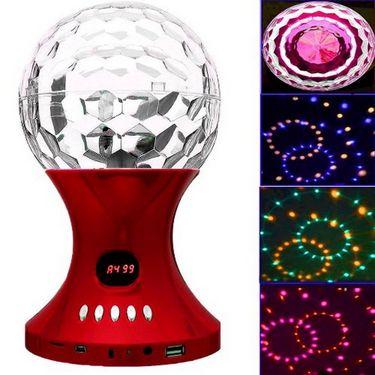 Callmate SJ-887FM LED Crystal Magic Ball Speaker - Red