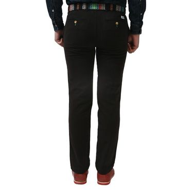 ShopperTree Slim Fit Poly Cotton Trouser For Men _st1404 - Black