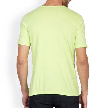 Incynk Half Sleeves Printed Cotton Tshirt For Men_Mht208p - Pista
