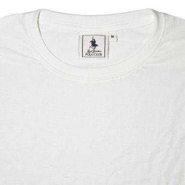 Branded Half Sleeves Plain Cotton T shirt For Men_Pcwt - White