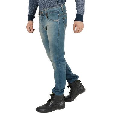Levis Slim Fit Cotton Jeans For Men 504 Green Blue