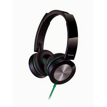 Panasonic RP-HXS400E-K Stylish Stereo Headphone with Swivel Mechanism - Black