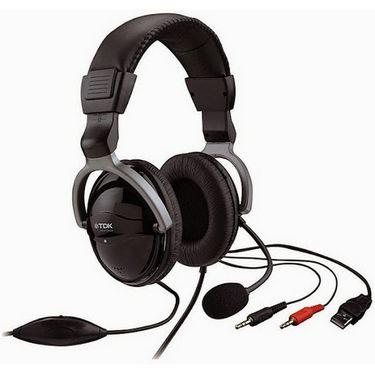 TDK ST600 Over-Ear Headphones - Black