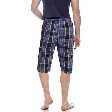 Delhi Seven Cotton Checks Capri For Men_D7Cg018 - Multicolor