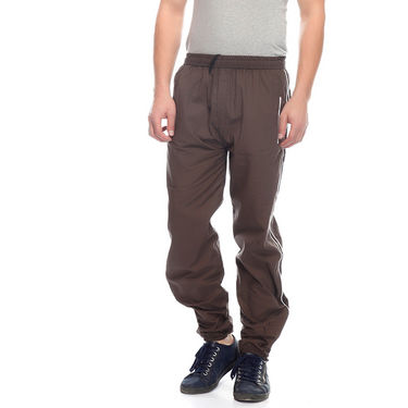 Delhi Seven Cotton Plain Trackpant For Men_Mutpm028 - Brown