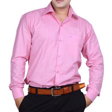 Ishin Full Sleeves Cotton Shirt For Men_Indst133 - Pink