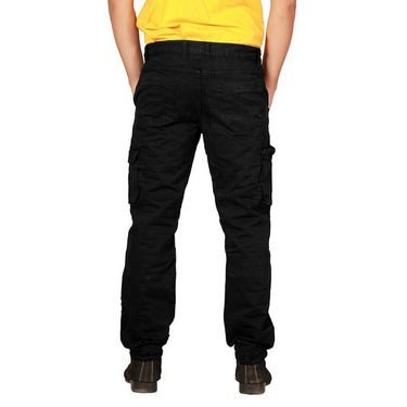 Uber Urban Regular Fit Cotton Cargo For Men_Hypcrgoblk - Black