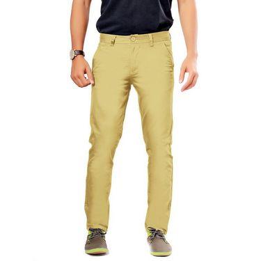 Uber Urban Regular Fit Cotton Chinos For Men_70051731435Cam - Beige