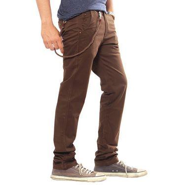 Uber Urban Regular Fit Cotton Trouser For Men_1301504Cho - Brown