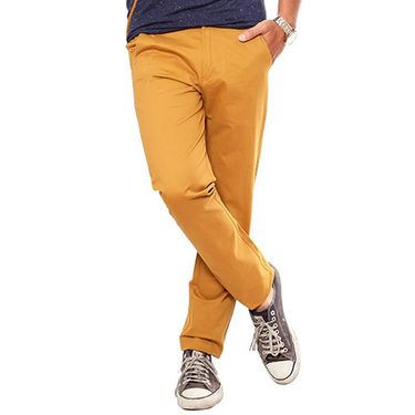 Uber Urban Regular Fit Cotton Trouser For Men_1301504Tab - Mustard