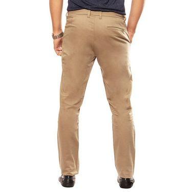 Uber Urban Regular Fit Cotton Trouser For Men_50151621421Olv - Khaki