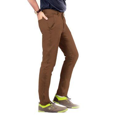 Uber Urban Regular Fit Cotton Chinos For Men_7001435Brn - Brown
