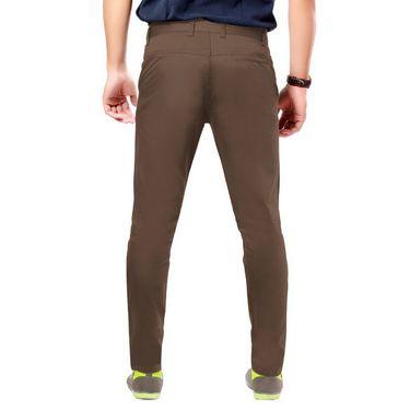 Uber Urban Regular Fit Cotton Chinos For Men_7001435Cho - Brown