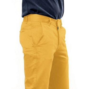 Uber Urban Regular Fit Cotton Chinos For Men_1435Mst - Yellow