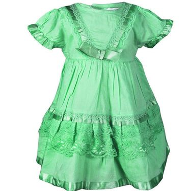 ShopperTree Green Cambric Lace Dress_ST-1419