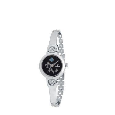Dezine Round Dial Metal Wrist Watch For Women_3000blkch - Black