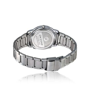 Dezine Round Dial Metal Wrist Watch For Women_906whtch - Silver