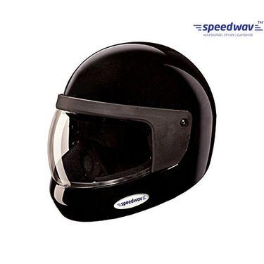 Speedwav Full Face ISI Mark Bike Riding Helmet-Black