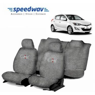 Speedwav Cool Grey Towel Cover(Split Seat)-Hyundai i20 Elite