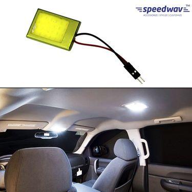 Speedwav Car Roof LED Light With Metal Border Square-WHITE
