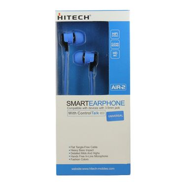 Hitech Air 2 Stereo Earphone - Blue