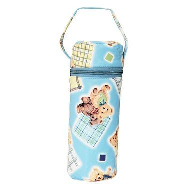 Wonderkids Blue Teddy Print Baby Bottle Warmer_BL-007-BTBW