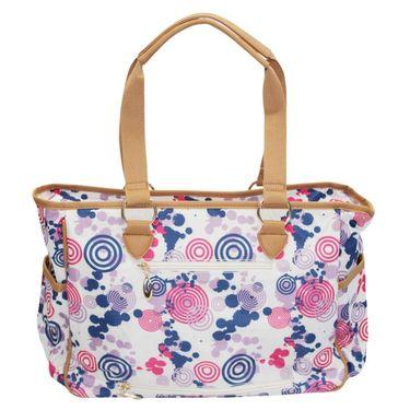 Wonderkids Pink Modern Print Fancy Baby Diaper Bag_BG-312-PFGD