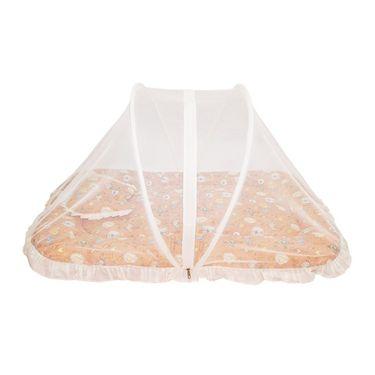 Wonderkids Orange Multi Print Baby Bedding Set With Mosquito Net_MW-182-OMBMS