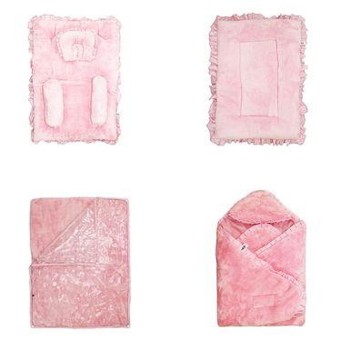 Wonderkids Baby Bedding Combo Gift Set - Pink Fur