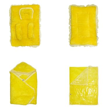 Wonderkids Baby Bedding Combo Gift Set - Yellow Fur