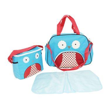 Wonderkids Owl Face Print Baby Diaper Bag _CH-050-OFDB