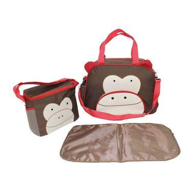 Wonderkids Monkey Face Print Baby Diaper Bag _CH-050-MFDB