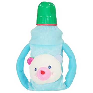 Wonderkids Blue Color Twin Handle Plush Bottle Cover_BK-1109-BCBC