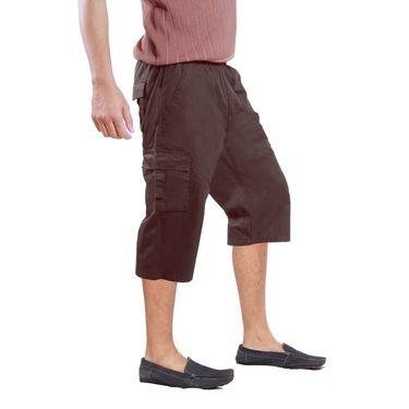 Uber Urban Cotton Shorts_15017lch - Brown