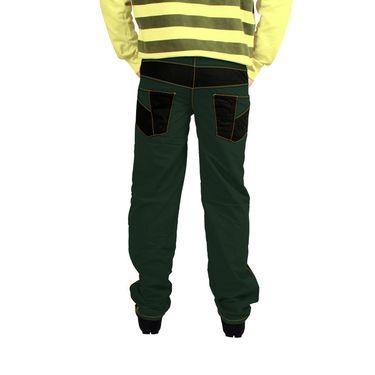 Uber Urban Cotton Trouser_bndtrschar - Green & Black