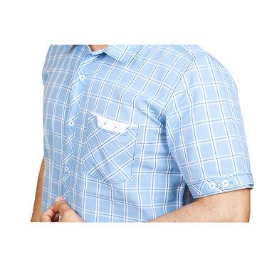 Sparrow Clothings Cotton Checks Shirt_wjc11 - Blue