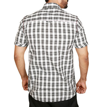 Sparrow Clothings Cotton Checks Shirt_wjc12 - Black